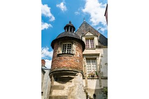 Traditional house in Vitre. Brittany