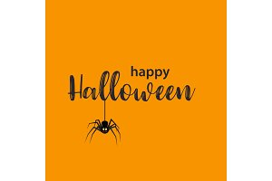 Funny Halloween greeting card