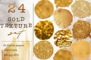 Gold foil & glitter textures