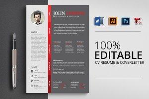Simple & Clean CV Resume Word