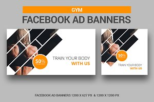 Gym Banners Facebook Ad