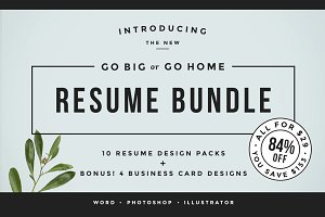 Go Big or Go Home! The Resume Bundle