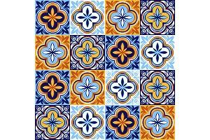 Italian ceramic tile pattern. Ethnic