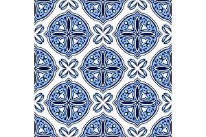 Italian tile pattern. Ethnic folk