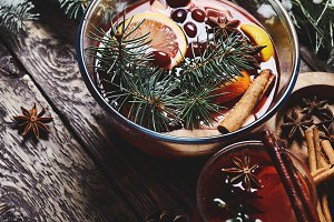 mulled wine for Christmas and
