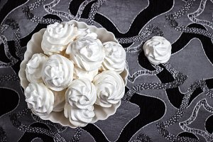 meringue on the plate