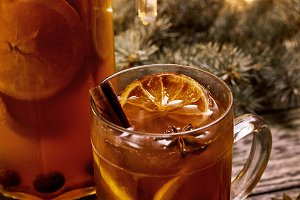 mulled wine or grog for Christmas
