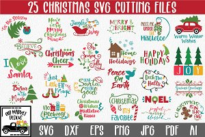 Christmas SVG Bundle - 25 Cut Files