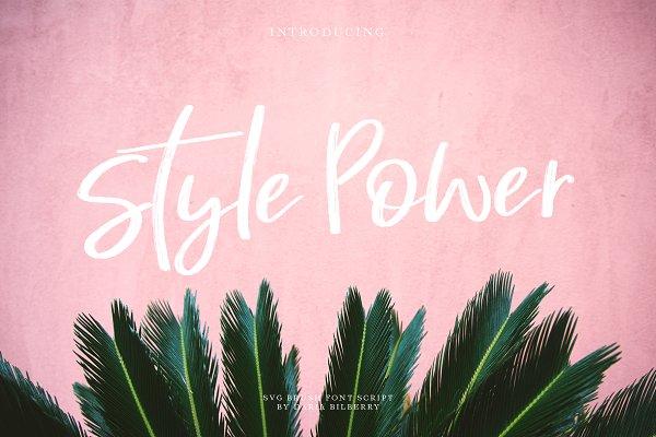 Style Power (SVG script)