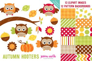 Autumn Hooters Owl Clipart