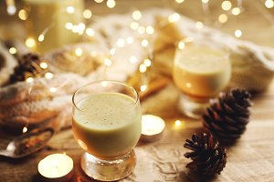 Warm Eggnog with Cinnamon for