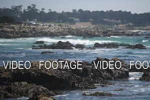 beautiful view of the rocky shore of