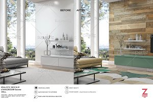 Wall Mockup Livingroom Scene SM49
