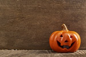 Halloween Party on wooden background