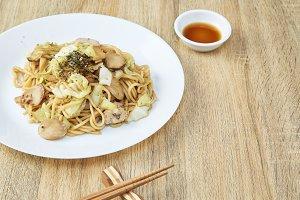 Japanese Food Noodles Yakisoba