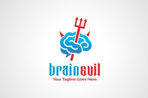 Brain Evil Logo Design / icon
