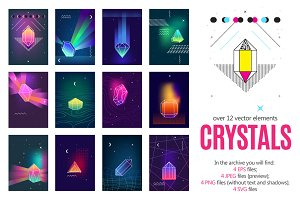 Polygonal Crystals Set
