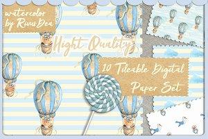 23Seamless digital paper teddy bear
