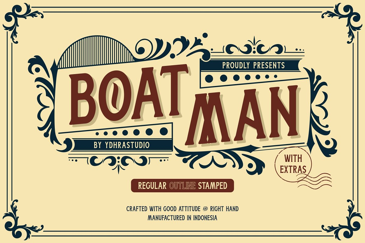 Boatman Font + Extras ~ Display Fonts ~ Creative Market