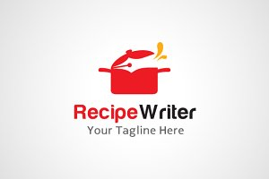 Recipe Writer Logo Design / icon