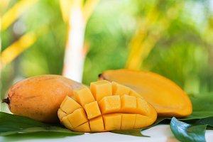 Fresh mango fruit outdoors