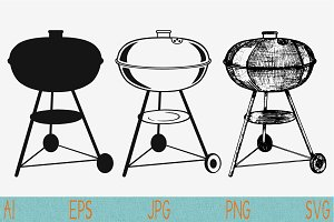 Barbeque svg Grill set vector png