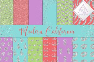 Modern California Digital Paper