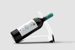 Wine Bottle Mock-up 3