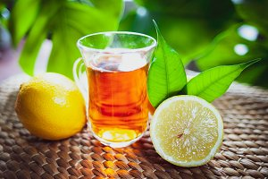 Fruits tea made from Limon , organic