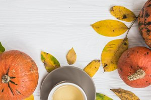Fall background with design space