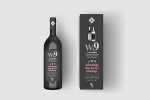 Wine Bottle Mock-up 4