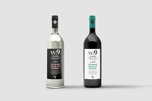 Wine Bottle Mock-up 1