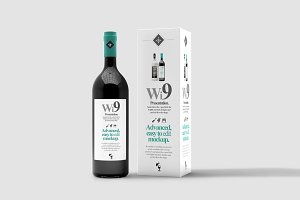 Wine Bottle Mock-up 2