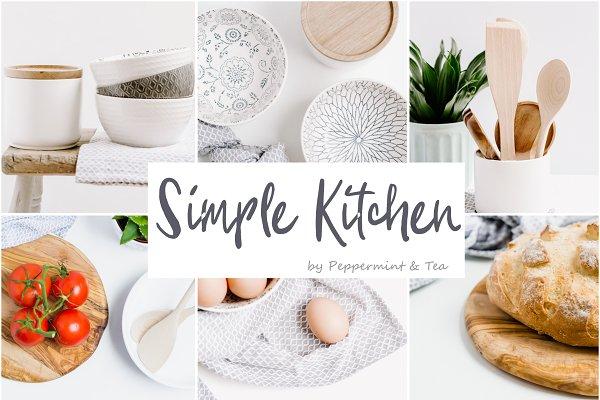 Product Mockups: Peppermint &Tea - Simple Kitchen Bundle