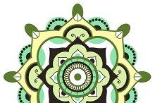 Mandala.Pagan symbol.