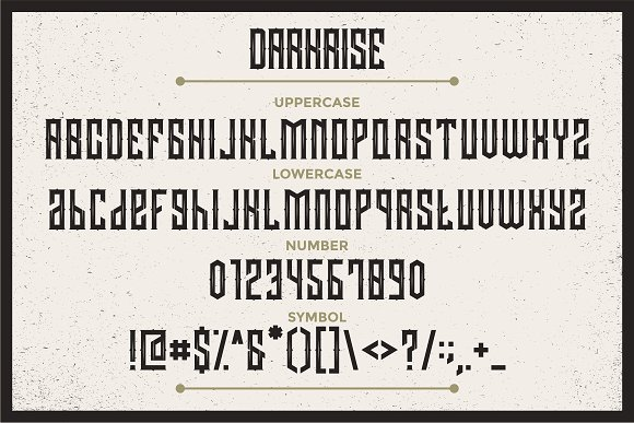 Darkrise Typeface in Blackletter Fonts - product preview 3