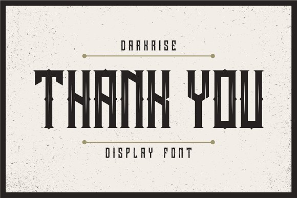 Darkrise Typeface in Blackletter Fonts - product preview 5