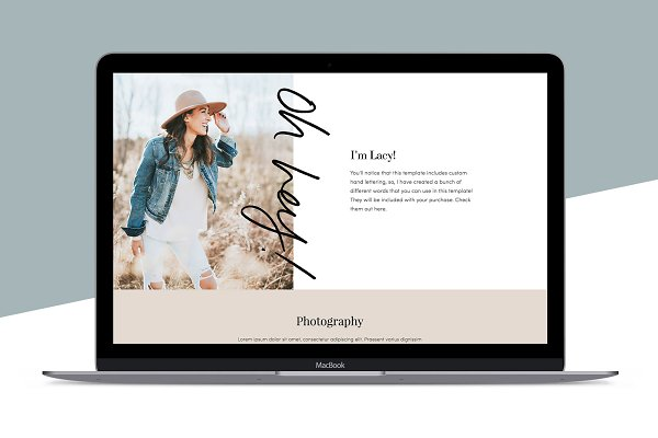 Squarespace Template: Lacy