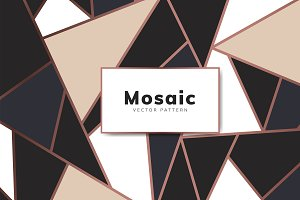 Modern mosaic wallpaper in rose gold