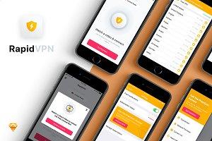 RapidVPN Mobile UI Concept