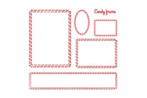 Christmas and New Year candy frame