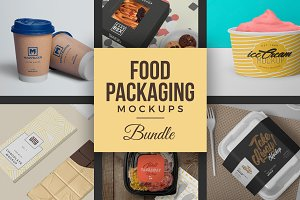 40 Food Packaging Mockups Bundle