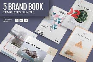 5 Brand Book Templates Bundle