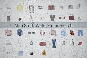 Men Stuff, Water Color Sketch