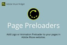 Page Preloaders Adobe Muse Widget