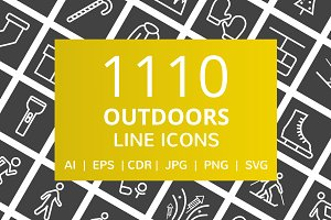 1110 Outdoors Line Inverted Icons
