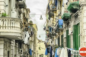 old street in Naples, Italy