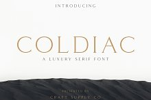 Coldiac - Luxury Serif Font by  in Serif Fonts