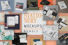 86 Stationery Mockups Bundle by  in Product Mockups