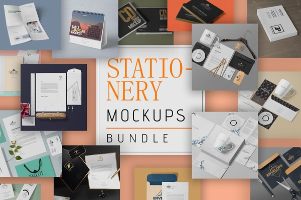 Product Mockups - 111 Stationery Mockups Bundle